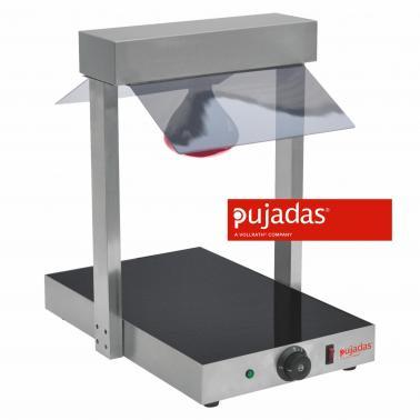 Отопляема плоча с отопляема лампа 1х1/1, 38х58см, h57см, 230V, 400W, крушка 150W, термостат до 90градуса, основа стуклокерамика - Pujadas