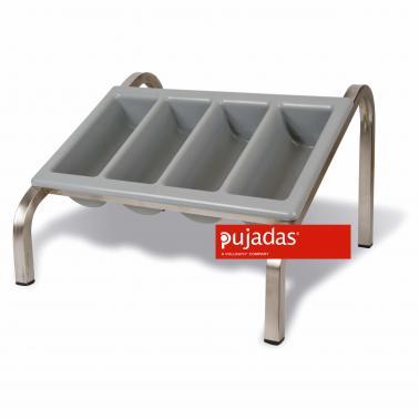 Иноксова стойка за разделител за прибори 526х510х328см, GN 1/1 - Pujadas
