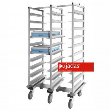 Иноксова количка за транспортиране на тави 62x92x152см - Pujadas