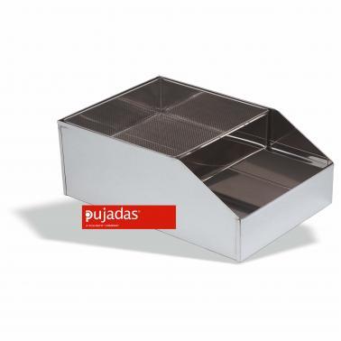 Иноксово сито за брашно с ваничка 37X26.5X18 см - Pujadas