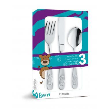 Комплект от 3 бр. детски иноксови прибори за хранене Amefa - Bear
