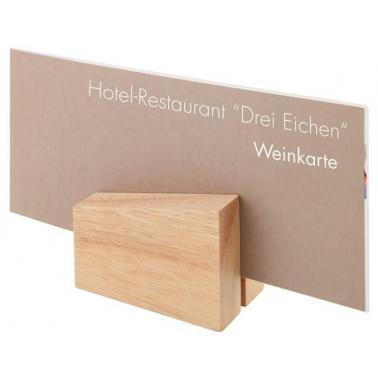 Дървена стойка за меню 8,5х6см, 2бр гланцирана - APS