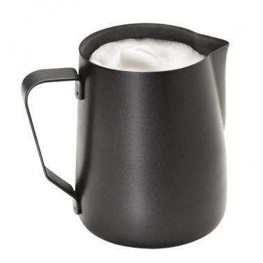 Иноксова каничка за мляко 600 мл ANTIHAFT , черна - APS