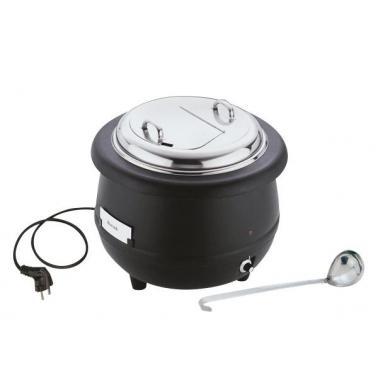 Иноксов отоплител за супа с полипропиленова повърхност , електрически ф40см, 10л - APS