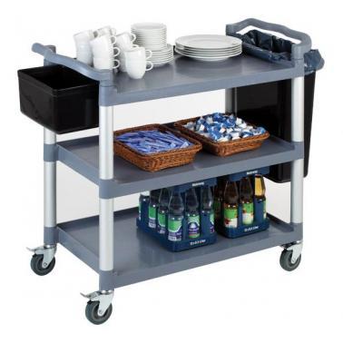 Количка за сервиране, полипропилен/алуминий , 108х50см - APS