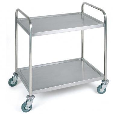 Иноксова количка за сервиране на 2 нива 91х59см - APS