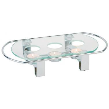 Плоча за нагряване инокс/стъкло 34х18см - APS