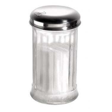 Стъклена захарница  с иноксов капак ф7,5см  h13,5см  320мл - APS