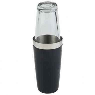 Иноксов шейкър с черно силиконово уплътнение  бостън 700мл - APS