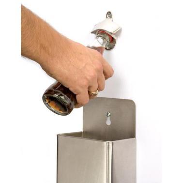 Иноксова отварачка за бутилки за стена 13,5х8см - APS