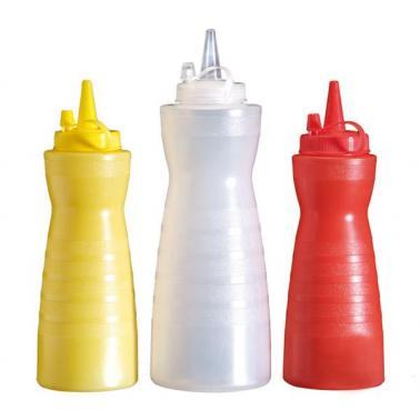 Пластмасова бутилка за сосове 350мл, червена - APS