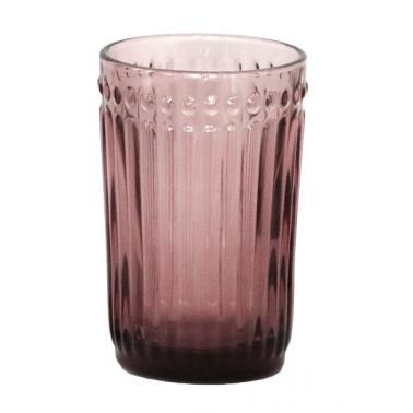 Стъклена чаша за безалкохолни напитки / вода   бордо  ф8х12.5см   OLD SCHOOL- (HC-93951) - Horecano