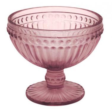 Стъклена чаша на столче за десерти бордо  ф12.5х10см    OLD SCHOOL- (HC-93952) - Horecano