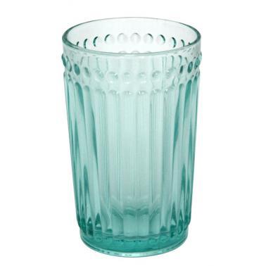 Стъклена чаша за безалкохолни напитки / вода  350мл ф8х12.5см  VINTAGE GREEN- (0193695) - Horecano