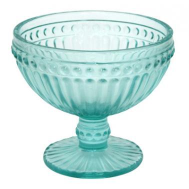 Стъклена чаша на столче за десерти 350мл ф12х10см VINTAGE GREEN  (0193699) - Horecano