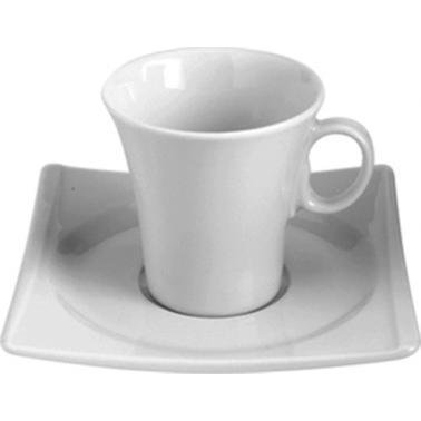 Порцеланова чашка с чинийка 90мл  HONG KONG (HKG 02 KT)ГП  - Gural Porselen