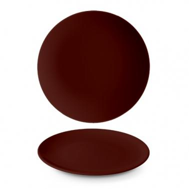 Порцеланова чиния плитка ф27см h3,1см LE CHOCO BRUN - Suisse Langenthal
