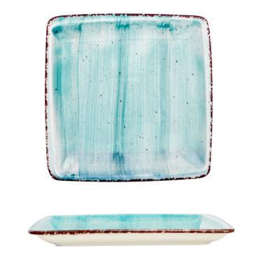 Порцеланова чиния квадратна 22x22см  TURQUOISE (NBNORD22X22DU50TM)ГП  - Gural Porselen