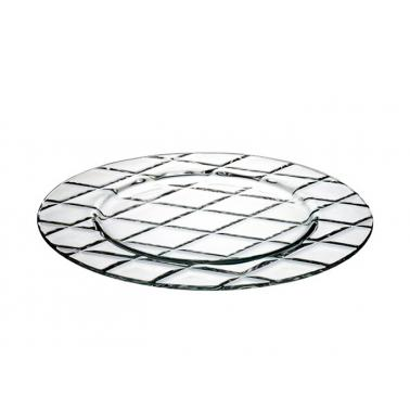 Стъклено плато кръгло 32см CONCERTO 67487 - VIDIVI