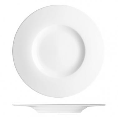 Порцеланова чиния с борд  плитка ф33см h2,9см ESSKLASSE - Lilien