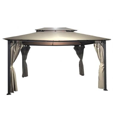 Градинска метална шатра 3х3m ШАМПАНСКО/АНТРАЦИТ WISDEN-(521013) - Horecano