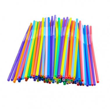 Пластмасови сламки широки микс 500 бр.