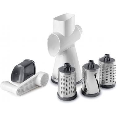 Уред за рязане на зеленчуци, 26х13х29см с 3 приставки, пластмаса/инокс - Lacor