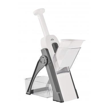 Ренде мандолина вертикално с 4 вида приставки инокс/пластмаса - Lacor