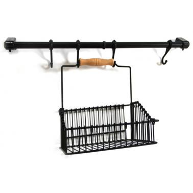 Метален органайзер за кухня с окачване черен  MATT BLACK-(LDR 001) - Horecano