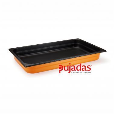 Иноксов гастронорм жълт  GN 1/2 x65мм  4,10л 18/10 COOL LINE COLLECTION - Pujadas