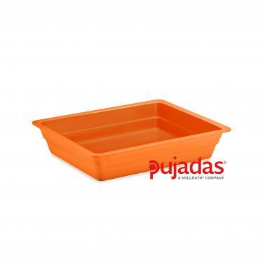 Меламинов гастронорм оранжев  GN 1/2 325x265x65мм  CLASSIC COLORS - Pujadas