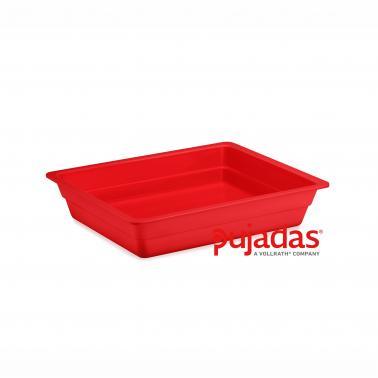 Меламинов гастронорм  червен GN  1/2 325x265x40мм  CLASSIC COLORS - Pujadas