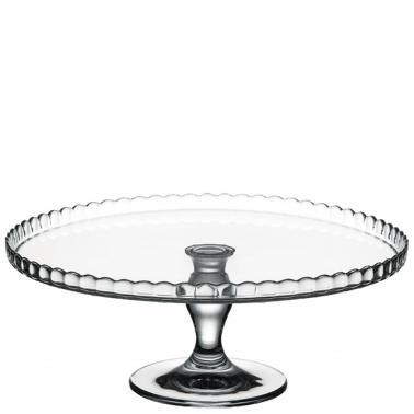 Стъклено плато за торта на столче 32см PATISSERIE 95117 - Pasabahce