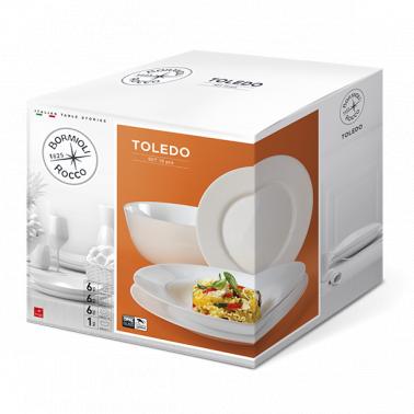 Сервиз за хранене аркопал от 19 елемента TOLEDO-(4.00875)- Bormioli Rocco