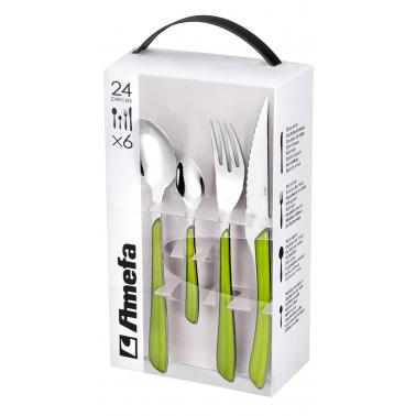 Комплект прибори за хранене от 24 елемента ECLAT GREEN  - Amefa