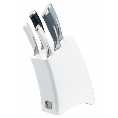 Комплект кухненски ножове 5 бр. със стойка KYU MONOCHROME - Richardson Sheffield