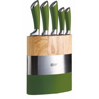 Комплект кухненски ножове  5 бр. на стойка  Fashion Fusion green - Richardson Sheffield