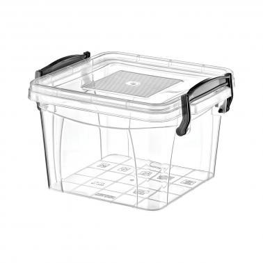 Пластмасова кутия контейнер квадрат №1 1.2л. (SA-250)  -  Irak Plastik