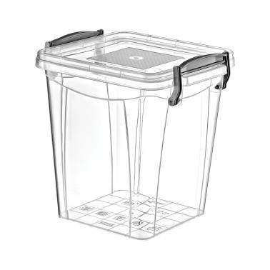 Пластмасова кутия контейнер квадрат дълбока №1 1.8л. (SA-255)  -  Irak Plastik