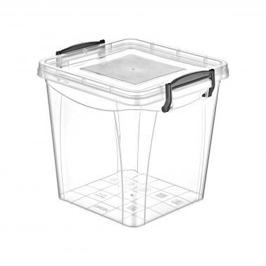 Пластмасова кутия контейнер квадрат дълбока №2 3.7л. (SA-265)  -  Irak Plastik