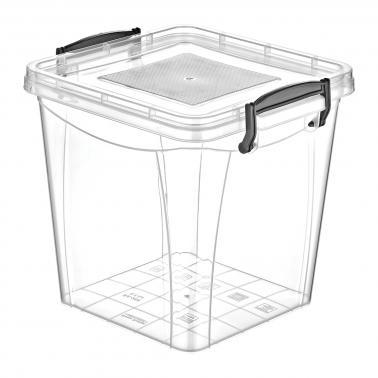 Пластмасова кутия контейнер квадрат дълбока 11л. (SA-285)  -  Irak Plastik