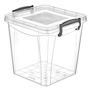 Пластмасова кутия контейнер квадрат дълбока 15л. (SA-290)  -  Irak Plastik