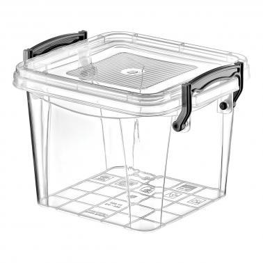 Пластмасова кутия контейнер квадрат дълбока №0 0.55л. (SA-335)  -  Irak Plastik