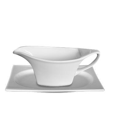Порцеланова сосиера с подложка 300мл HONG KONG (HKG 13 SO)ГП  - Gural Porselen