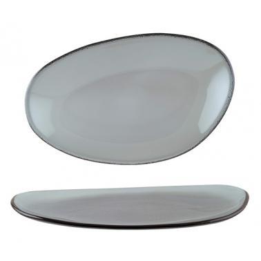 Стъклена овална чиния 29см BONNA-GLASS VAO-(GLVAO 29DT)
