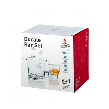 Стъклен комплект  от съд за лед  с   6   чаши за алкохол  330мл DUCALE 67473 - VIDIVI